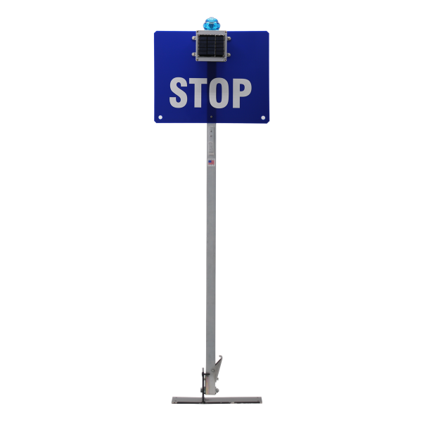 RR-STOP-SIGN with BLUE-SOLAR